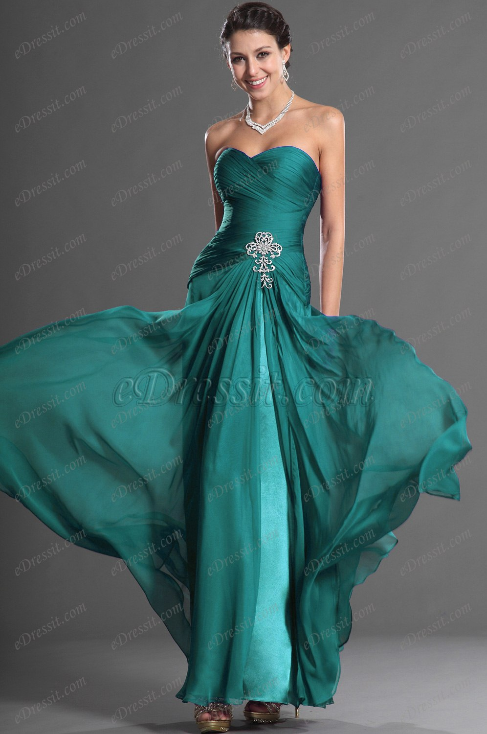 Clearance Sale ! Gorgeous Sweetheart Strapless Evening Dress (00129506B)