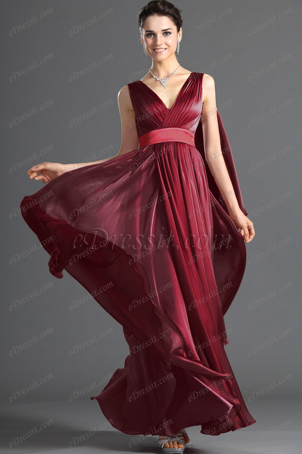 Clearance Sale ! eDressit New Gorgeous V-cut Evening Dress (00121801C)