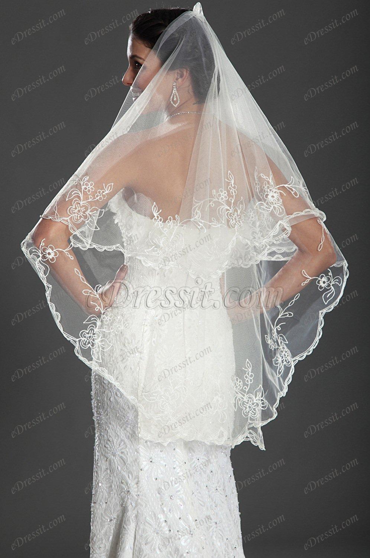 eDressit 2012 великолепая кружевная   свадебная  вуаль (19120313)