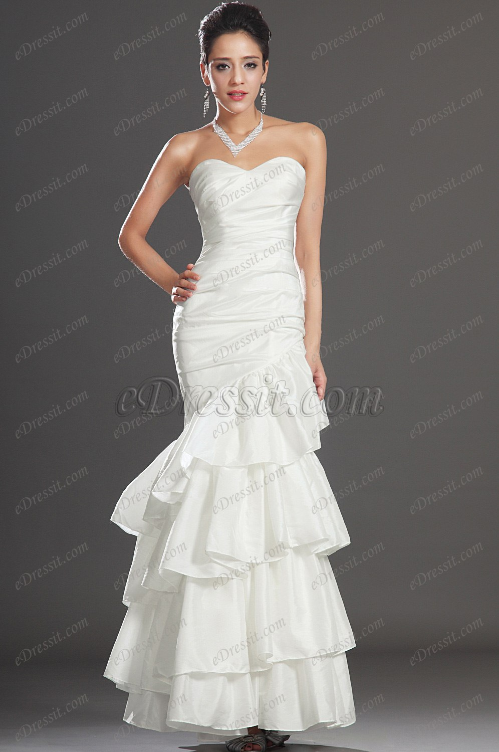Clearance Sale! eDressit white Evening Dress (00109607)
