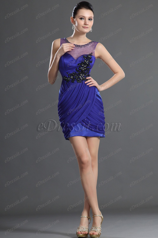 Edressit Fabulous Blue Cocktail Dress Party Dress 04123905