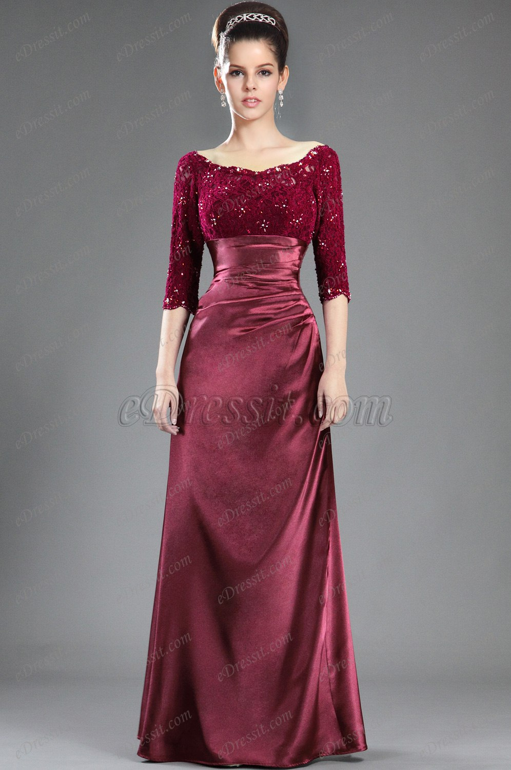 eDressit New Stylish Lace Sleeves Mother of the Bride Dress (Y26121817)