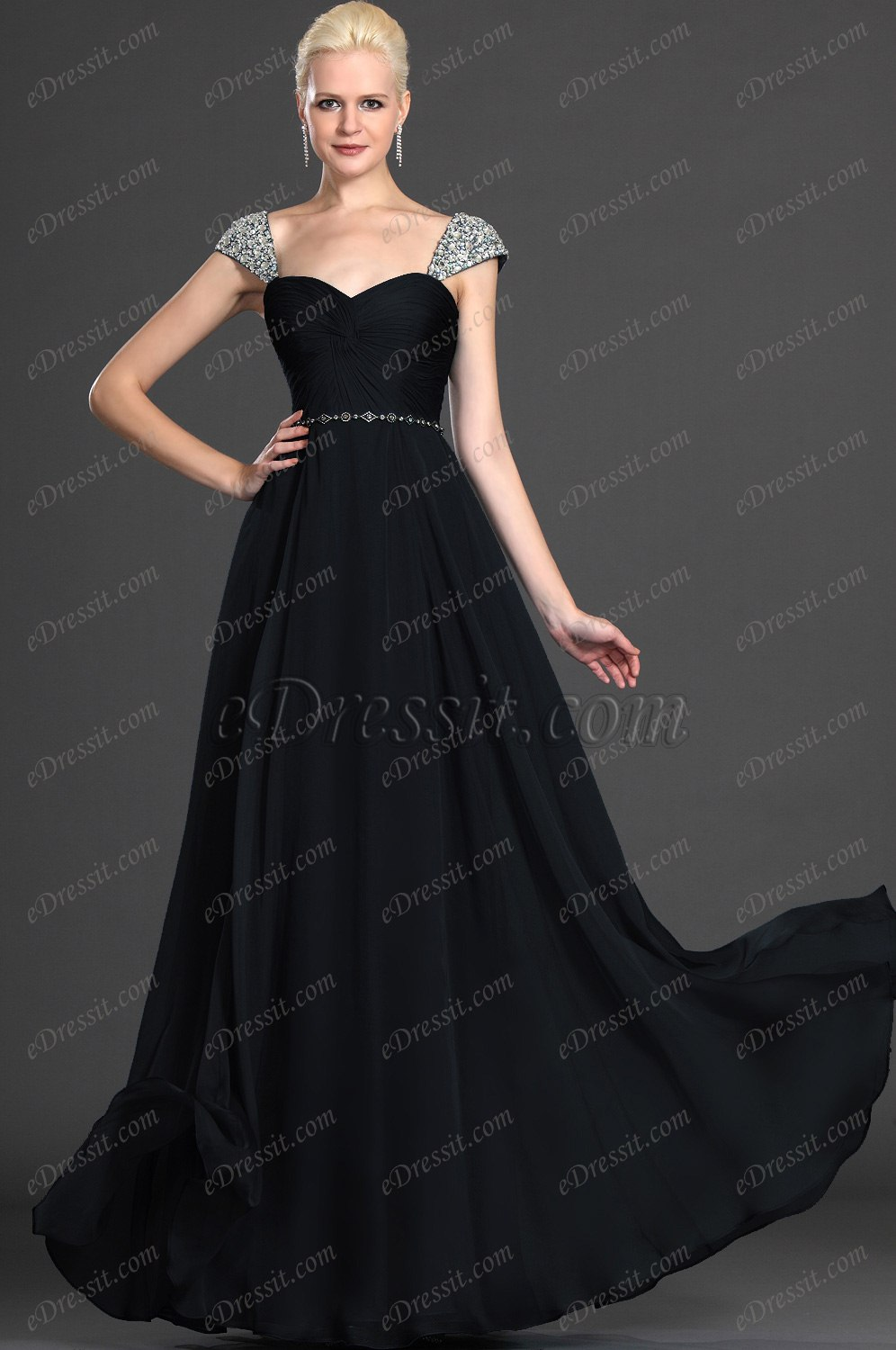 Clearance Sale !eDressit Alluring Cap Sleeves Evening Dress (00125605B)