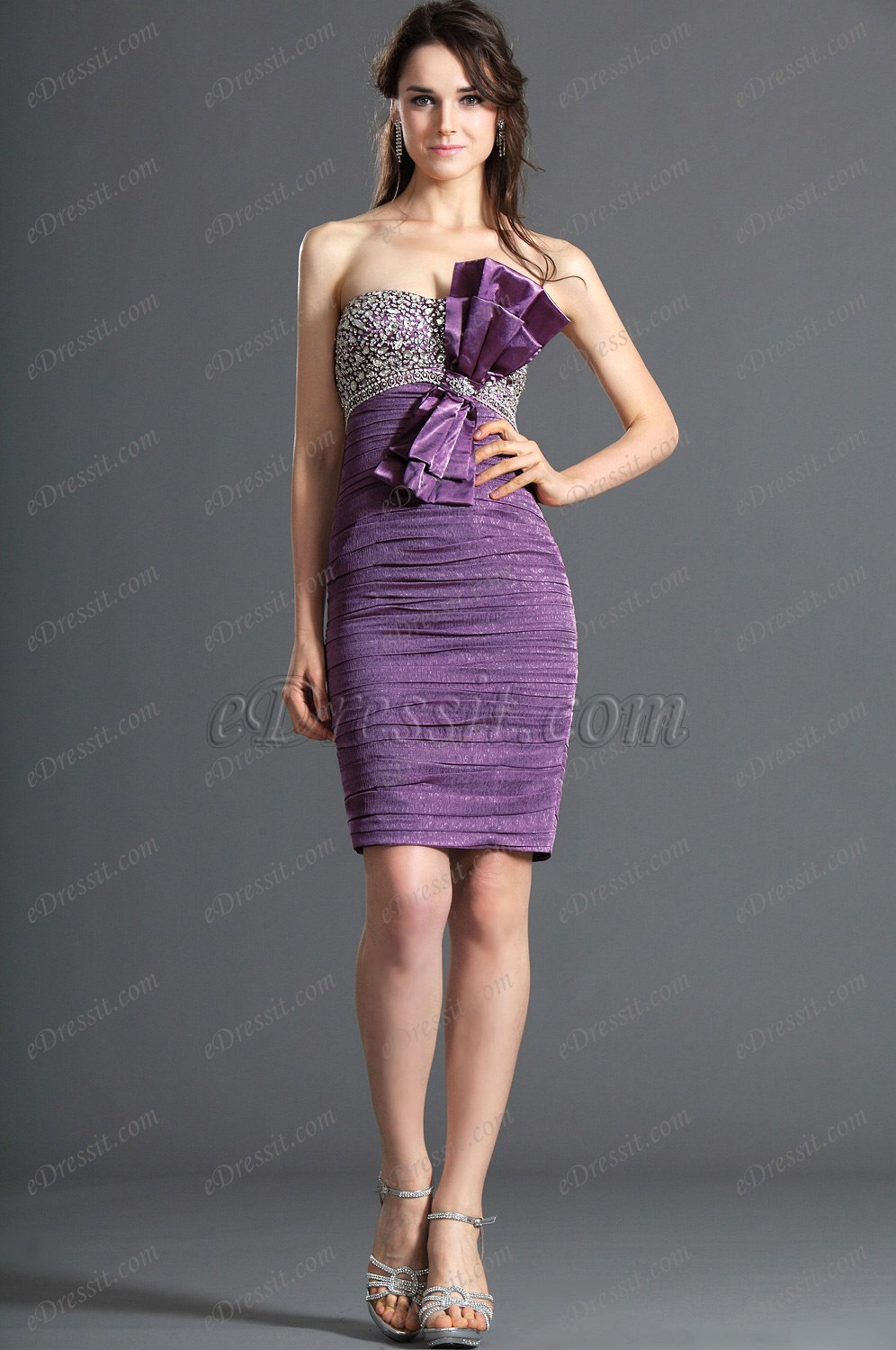 Clearance Sale ! eDressit Strapless Shiny Beadings Cocktail Dress Party Dress (04120501C)
