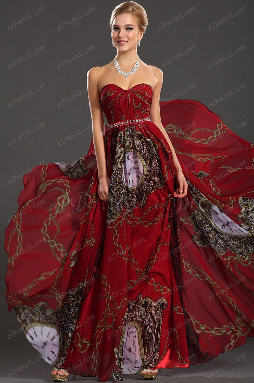 eDressit 2013 новое классическое ситцевое вечернее платье без бретелек (00129168)