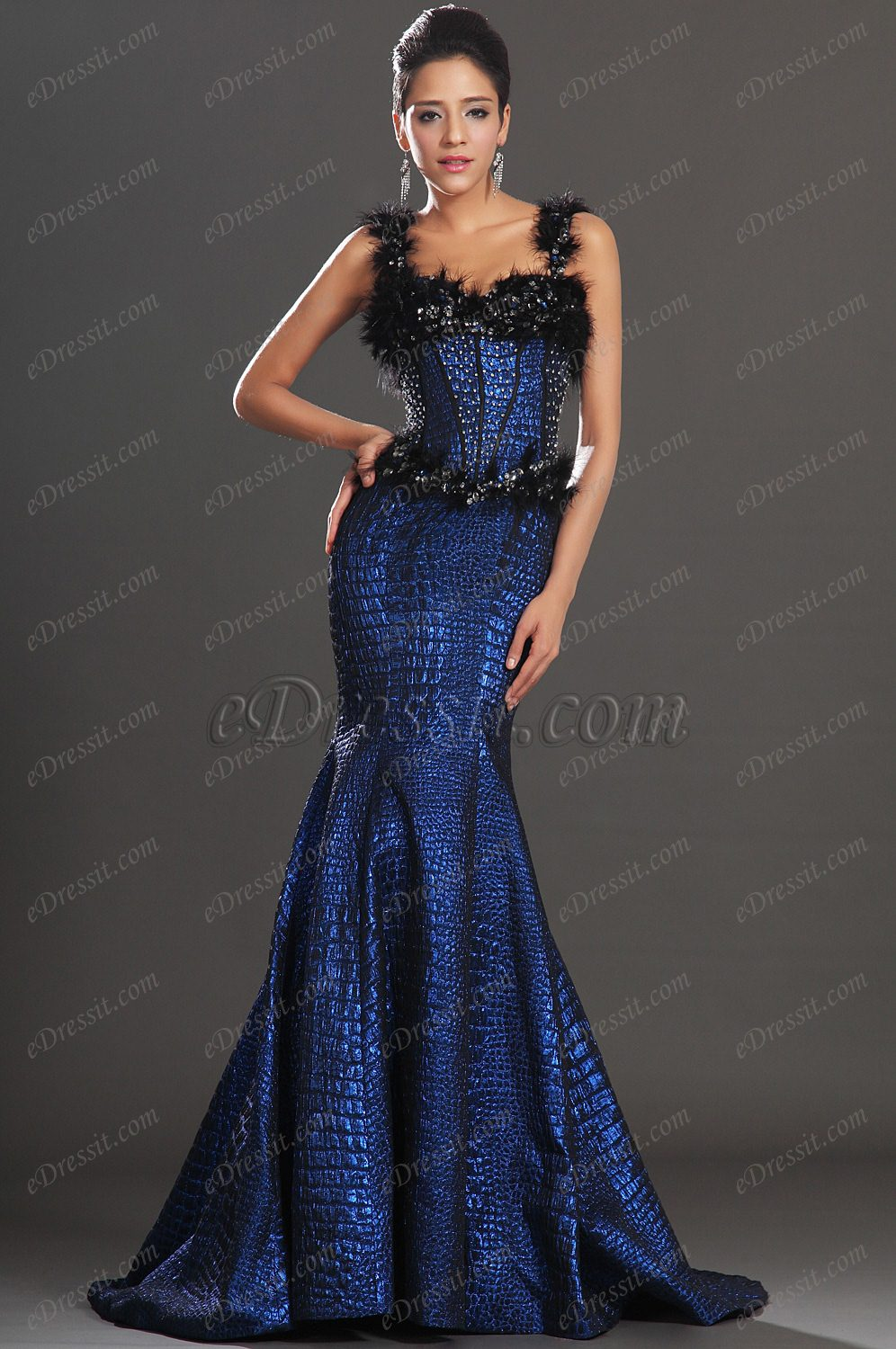 eDressit New Sexy Ruched Bodice Mermaid Style Evening Dress (02130105)