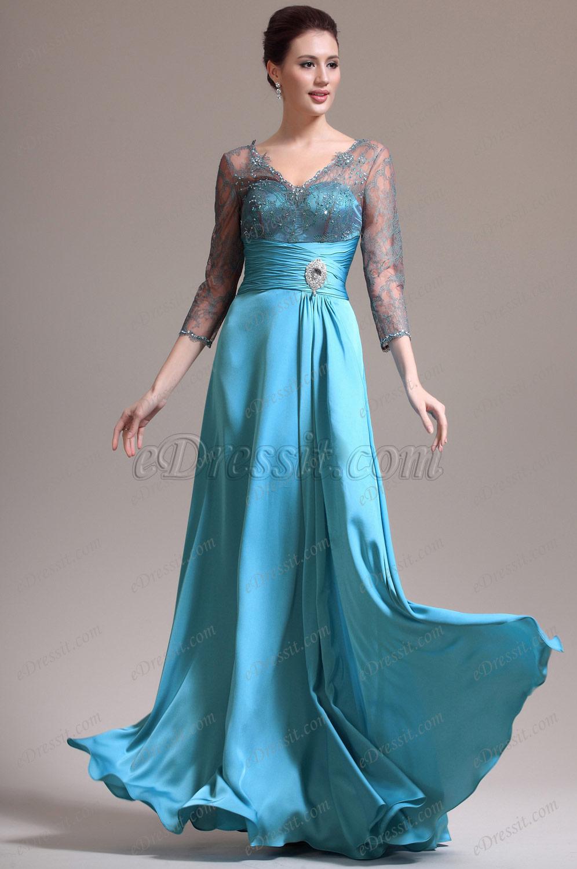 eDressit 2013 Neu Sexy V-Ausschnitt Spitze Kleid für Braut´s Mutter (26134405)