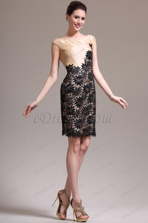 eDressit New Round Neck Cap Sleeves Cocktail Dress Party Dress (04135914)