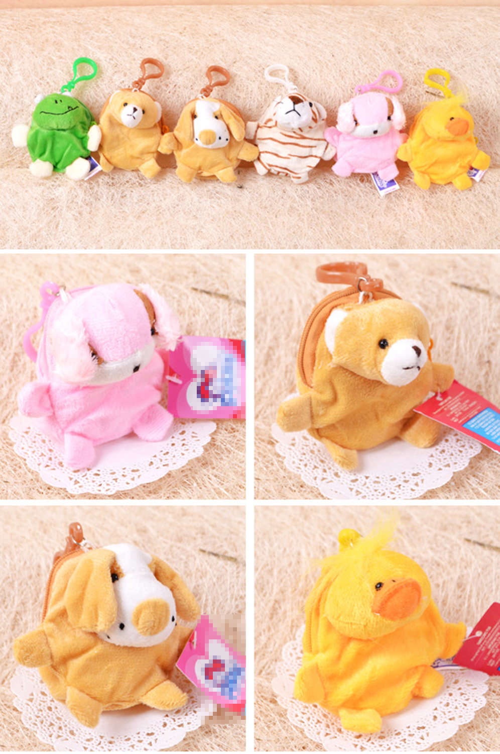 Portable Cute Cartoon Plush Coin Purse (66140499)