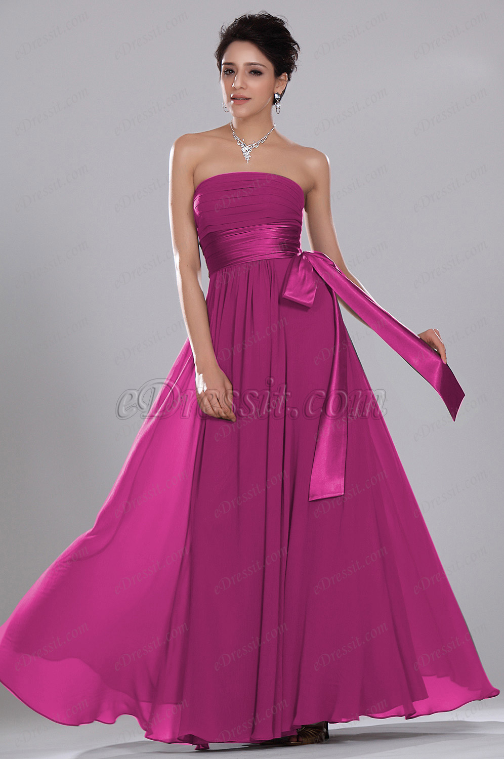 eDressit Simple Elegant Strapless Evening Dress ONLY ONE PIECE SIZE UK8 (00119212)