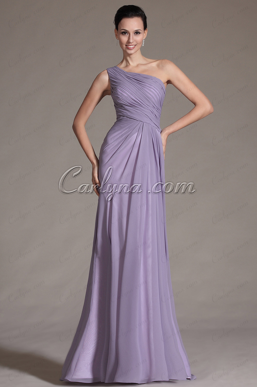 2014 New Simple One Shoulder Style Evening Dress Bridesmaid Dress (C00146506)