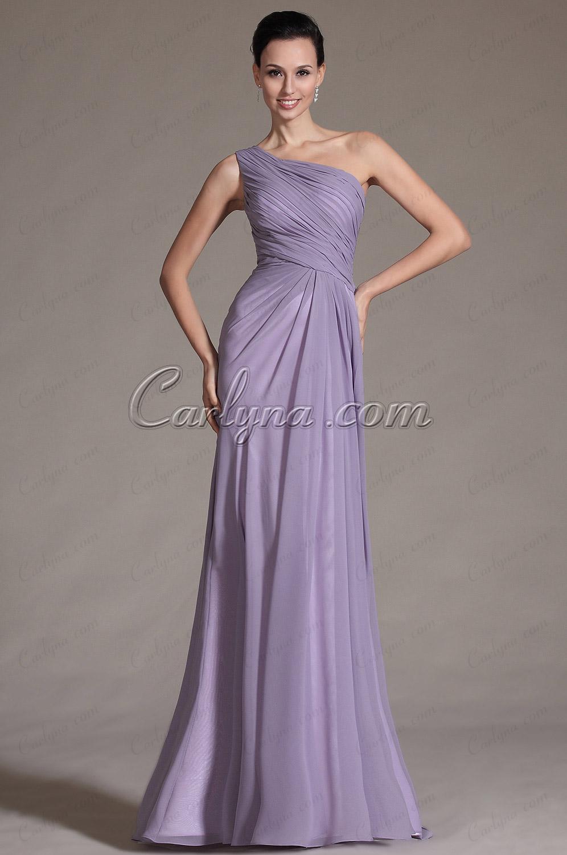 2014 Новое Простое с Одной Бретелькой Вечернее Платье для Подружек Невесты(C00146506)