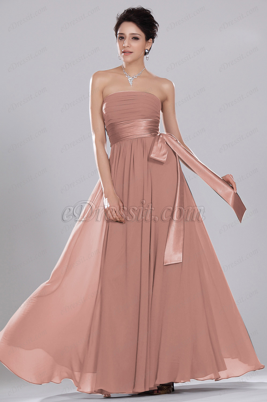 eDressit Simple Elegant Strapless Evening Dress ONLY ONE PIECE SIZE UK16 (00119201)