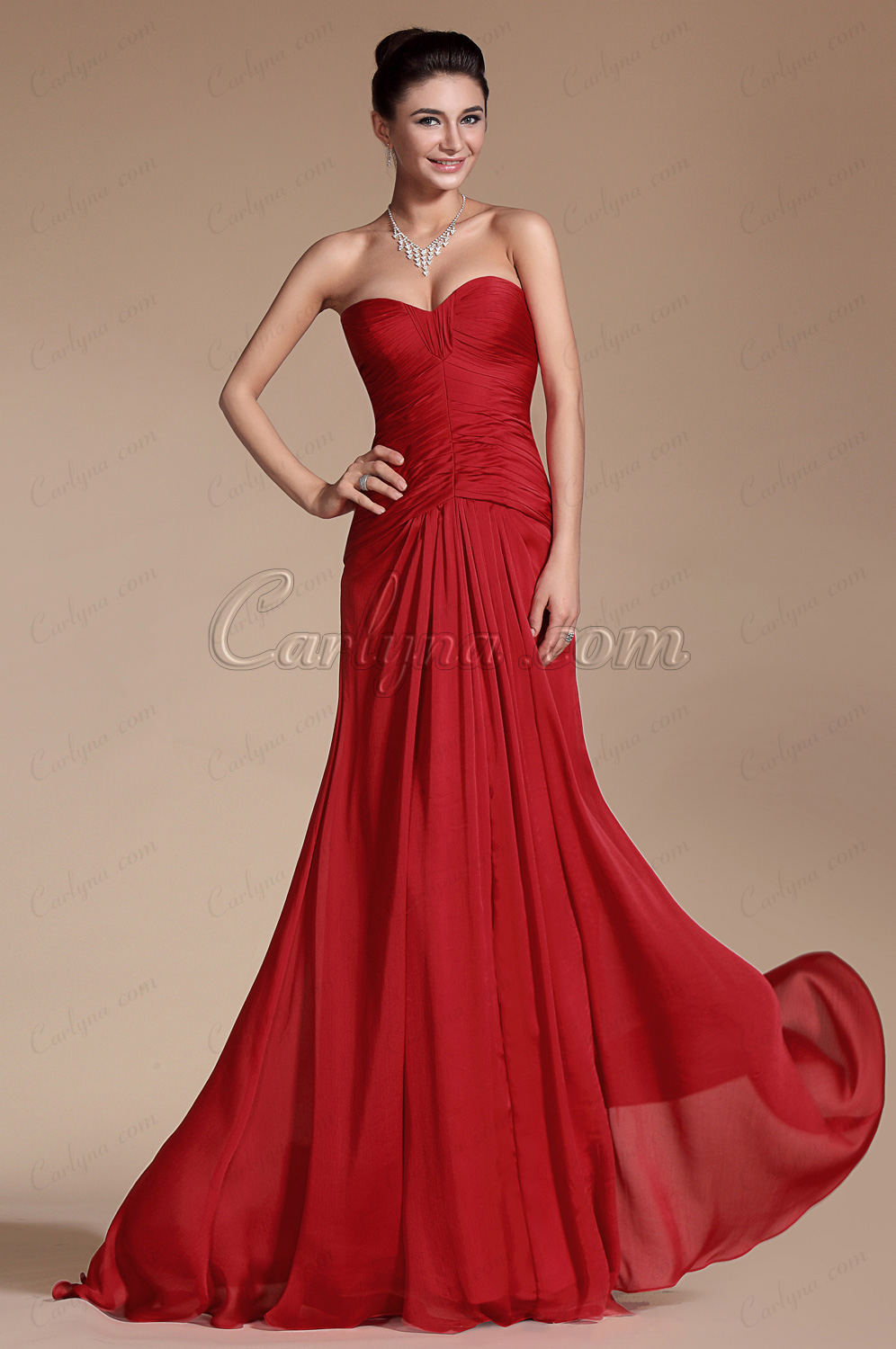 Red Simple Sweetheart Evening Dress Bridesmaid Dress (C00143802)