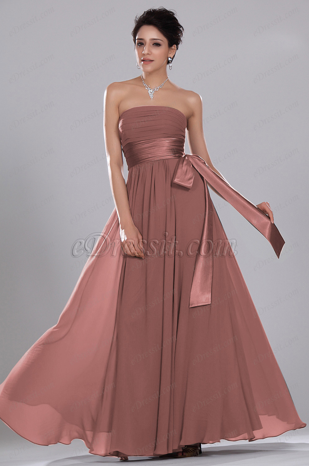 eDressit Simple Elegant Strapless Evening Dress ONLY ONE PIECE SIZE UK8 (00119246)