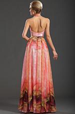 eDressit New Gorgeous Printed  Halter V-neckline Evening Dress (00091801)