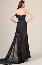 eDressit New Stylish Ruched bodice Black Evening Dress (00120500)