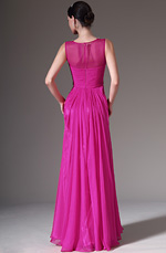 eDressit 2014 New Sheer Top Sleevless Pink Evening Dress (00145112)