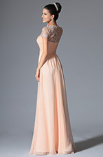 eDressit 2014 New Pink Short Sleeves Evening Dress (00147901)