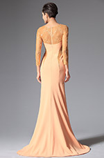 eDressit 2014 New Orange Round Neckline Evening Dress (00148210)
