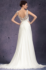 eDressit 2013 New V-cut Handmade Flowers Evening Dress Wedding Gown (01130807)