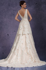 eDressit 2013 New V-cut Lace Appliques Evening Dress Wedding Gown (01131014)
