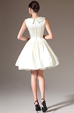 eDressit 2014 New Lapel Sleeveless Embroidered Short Bridal Dress (01140307)