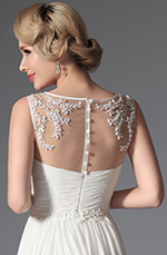 eDressit 2014 New White Sleeveless Evening Dress Wedding Gown (01141707)