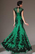 eDressit 2014 Green New Adorable Black Lace Evening Dress (02120704)