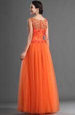 eDressit Flowers Sleeves Evening Dress (02121310)