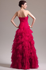 eDressit 2013 New Stunning Red Strapless Pleated Evening Dress Prom Gown (02133702)
