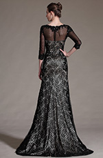 eDressit 2014 New Stylish Black Sleeves Lace Evening Gown (02140714)