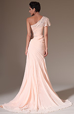 eDressit 2014 New Pink One Shoulder Hand-sewn Appliques Evening Gown (02141801)