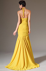eDressit 2014 New Halter Yellow Sheath Formal Evening Dress (02142203)