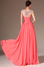eDressit 2014 New Sheer Top Round Neck Full-Length Prom Dress(02143757)