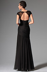 eDressit 2014 New Black Sexy Cap-sleeves Evening Dress Prom Dress (02146800)