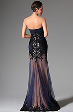 eDressit 2014 Nouveauté Bleu Coeur Fleurs Sequin Robe de Soiée Longue  (02147605)