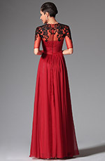 eDressit 2014 New Dark Red Sleeves Long Evening Dress (02148802)