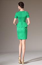 eDressit 2014 Nuevo Elegante Vestido verde corto de Día para Cóctel con manga (03140504)
