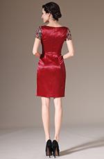 eDressit 2014 Nuevo Vestido Rojo con Brillantes cosidas a mano de Coctel para Dia (03140802)