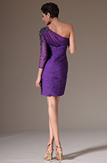 eDressit 2014 New Purple One Sleeve Cocktail Dress Party Dress (03141506)