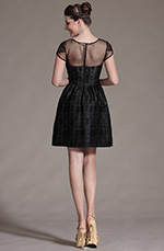 eDressit 2014 New Black Round Neckline Sheer Top Cocktail Dress Party Dress (03142100)
