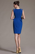eDressit 2014 New Fashion Blue Sleeveless Cocktail Dress Day Dress (03142305)