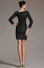 eDressit 2014 New Simple Black Sleeves Day Dress Cocktail Dress (03142500)