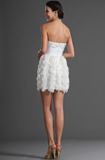 eDressit Lovely White Strapless Cocktail Dress Party Dress (04126007)