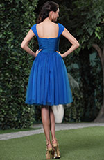 Lovely Cap Sleeves V Neck Party Dress Cocktail Dress (04133605)