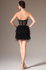 eDressit 2014 New Black Strapless Mini-Skirt Tulle Cockail Dress (04140300)