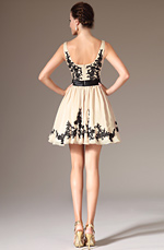 eDressit 2014 New Simple Beige & Black Appliques Cocktail/Party Dress (04140814)