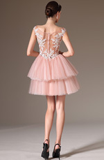 eDressit 2014 New Embroidered Lace Sheer Top Cocktail Party Dress (04142546)