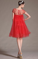eDressit 2014 New Sheer Top Red Cocktail Dress (04143002)